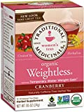 Traditional Medicinals Organic Weightless Cranberry Tea, 16 Tea Bags (Pack of 6)