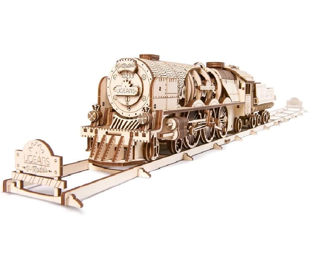 exclusivo JLA JLA JLA Juguetes, Decoraciones, Cortar Rompecabezas de Madera con Engranajes 3D Juguete Modelo Adulto Kit para Construir niños o Adultos (Tren) 680x 132x 100mm  bienvenido a elegir