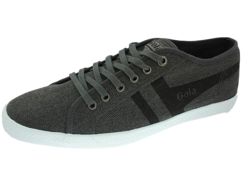 Gola Quattro Herringbone  Herren Sneaker Grau  Gris fonc茅 et noir