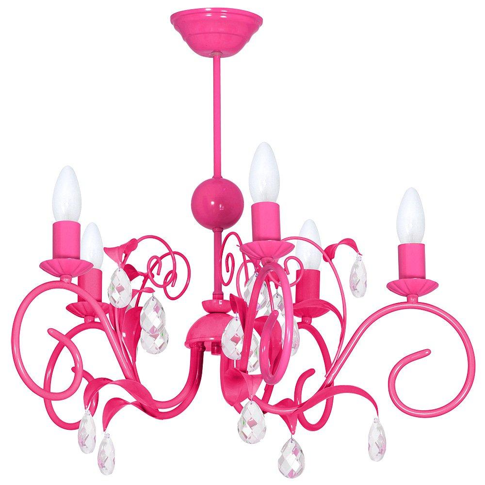 LIWIA DARK PINK DUNKEL ROSA 5 Hängelampe Deckenleuchte Deckenlampe Kronleuchter