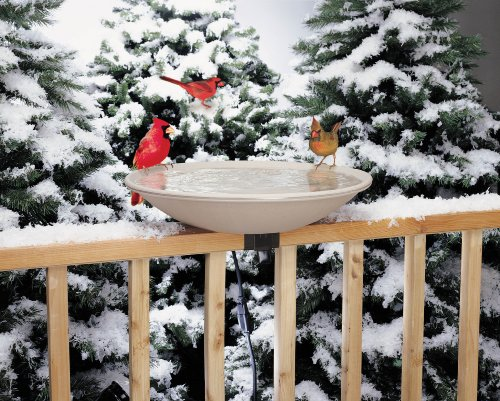 EZ Tilt-To-Clean Heated Bird Bath, (Heated Birdbath Deck)