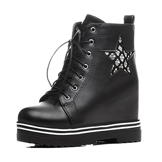 Women's High-Heels Soft Material Low-top Assorted Color Lace-up Boots