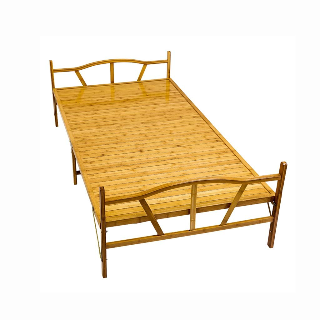 GuanBed Faltblätter People Home Adult Multifunktionale Mittagspause Economy Einfaches Büro Praktisches faltbares Tatami-Bett (Color : Wood, Size : 100cm)
