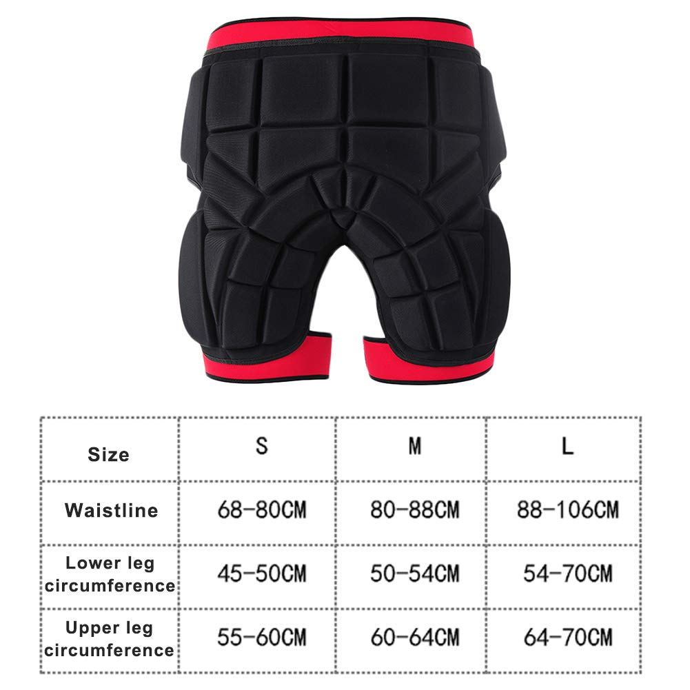 RENNICOCO Protection Hip 3D Rembourr/é Shorts L/éger Respirant V/êtement De Protection pour Ski Skate Snowboard Patinage Ski Volleyball Motorcross V/élo