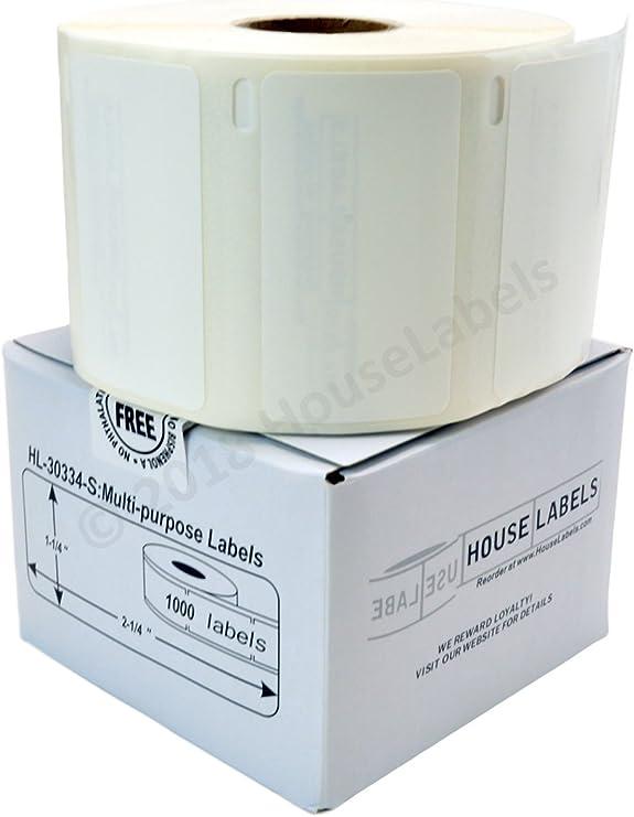 4 Rolls 2,000 Labels POLYPROPYLENE Synthetic Waterproof Dymo LabelWriters 30336