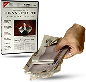Magic Makers Torn & Restored Newspaper Illusion Magic Trick Instructional Guide with Magician Ben Salinas Learn 9 Methods