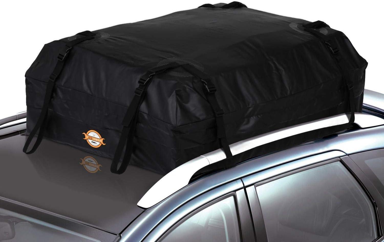 15//20 Cubic Feet S Vivi Car Roof Box Car Luggage Rack Roof Bag Travel Storage Box Easy to Install 420-580L