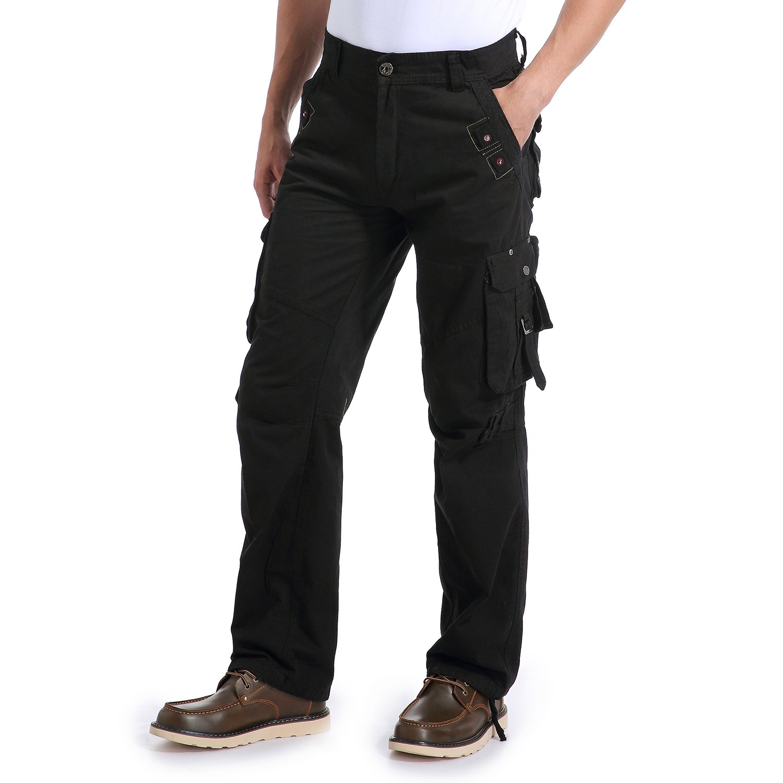 e04f12a84a Eaglide Mens Regular-Fit Outdoor Tactical Pant,Men's Multi-Function Pockets  Cotton Casual Cargo Pants (Black, 31W × 31L)