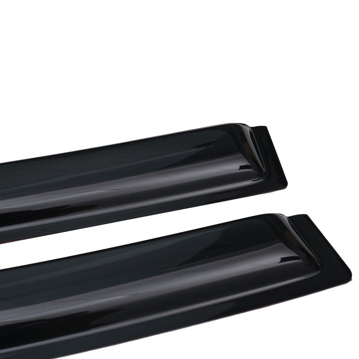 Lightronic Vent Visor Side Window Deflector Rain/Guards/2-Piece Set for 2009-2018 Dodge Ram 1500,2010-2018/Dodge/Ram/2500/&3500 Standard Cab Pickup,2019 Ram 1500 Classic Standard Cab Pickup