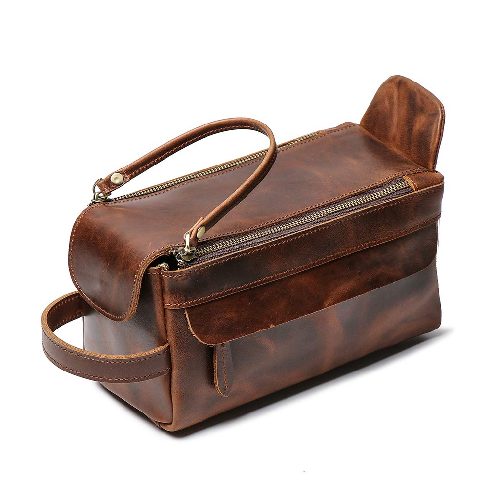 Amazon.com   Leathfocus Leather Toiletry Bag 367d80520ddc8