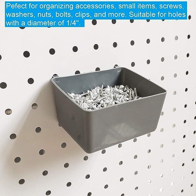 ETE ETMATE Accesorios para tableros herramientas pared 80 piezas para organizaci/ón de almacenamiento colgante Accesorios para tableros perforados Surtido de ganchos de tablero con contenedores