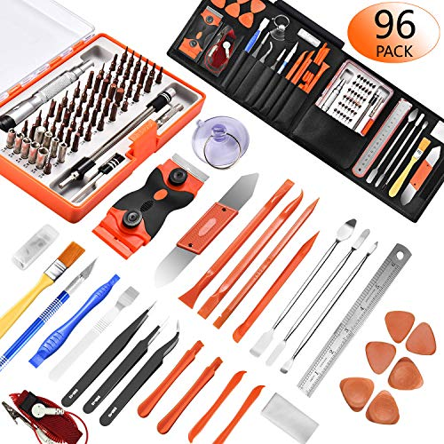 96 in 1 Screwdriver Set Precision,Full Electronic Repair Tool Kit Professional,S2 Steel for Fix iPhone/Computer/Mobile Phone/iPad/MacBook/Laptop/Watch/Game Console DIY Pry Open Replace ()