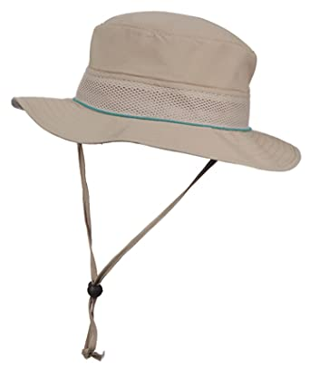 Stetson Womens No Fly Zone Anti Mosquitoes Nylon Mesh UV Sun Hat (Lagoon) 6e94d74639