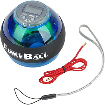 YANGHX Wrist Power Force Ball Arm Exercise Gyroscope with LED Lighting /& Speed