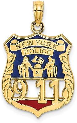 14K Yellow Gold Policemans Lady Charm Pendant