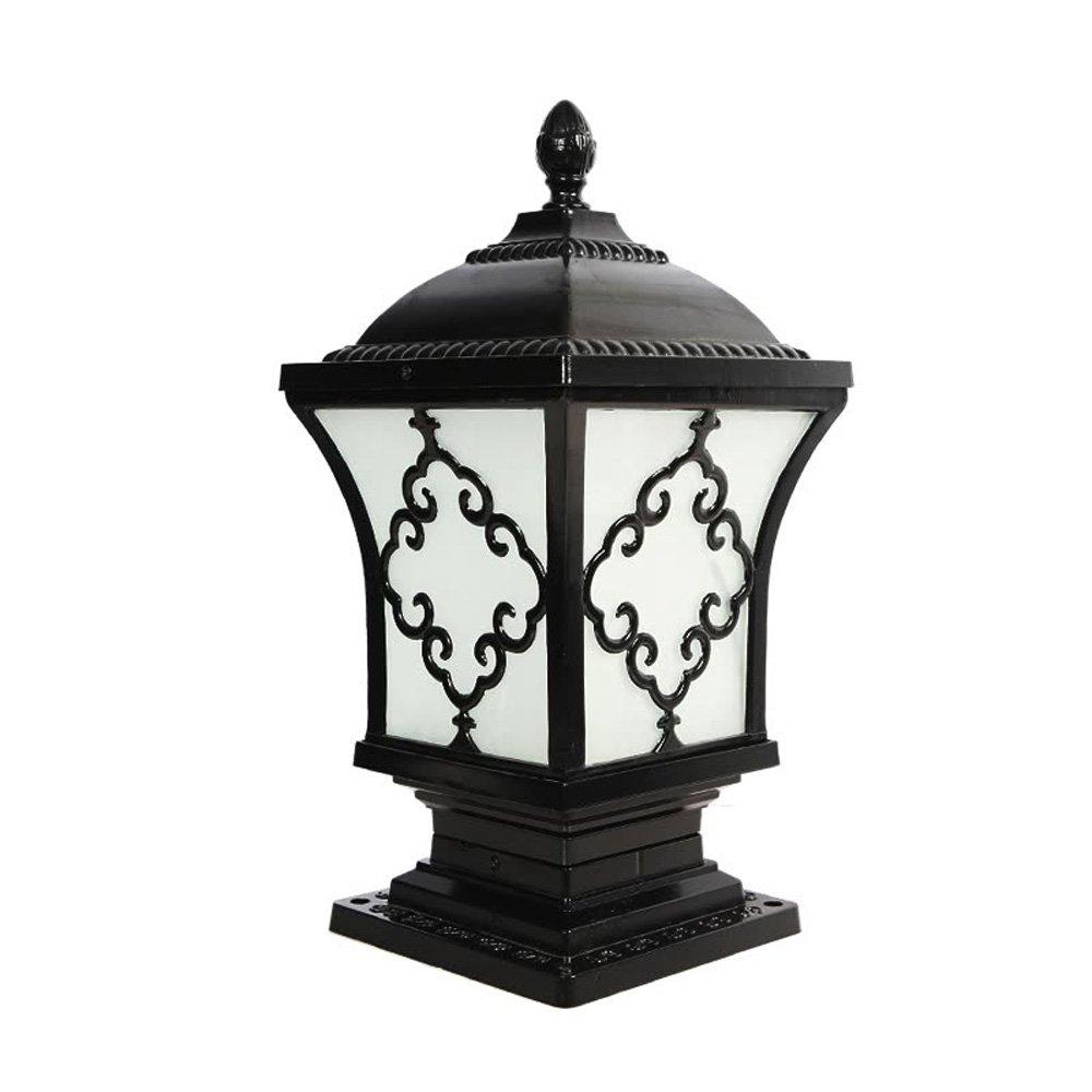 Neixy - 屋外防水壁の景色の列のヘッドライトのランタンユニークな創造的な人格の柱の照明の外観ヨーロッパのアルミヴィラの庭の入り口プールのエッジの結婚式のポストライトの装飾 (Color : Black 2, サイズ : 24cm) B07DDHQNQC 16925 24cm|Black 2 Black 2 24cm