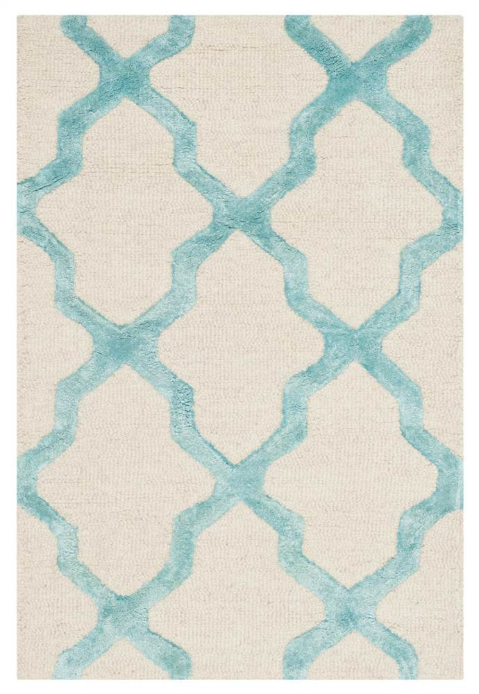 Safavieh Cambridge Collection CAM155D Grey and Ivory Trellis Area Rug (2' x 3')