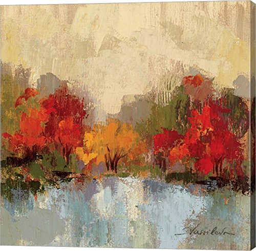 Fall Riverside I by Silvia Vassileva Canvas Art Wall Picture, Gallery Wrap, 24 x 24 inches