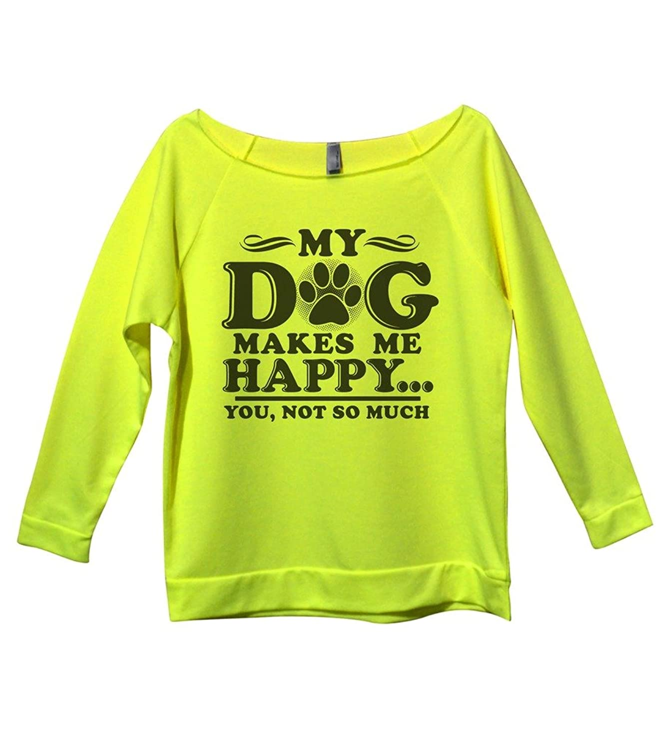 "Girls Cute Dog Lovers Shirt ""My Dog Makes Me Happy You Not So Much"""