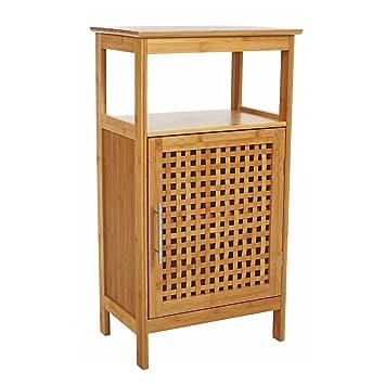 Badezimmer Möbelstück Aus Bambus   1 Tür Und 1 Regalbrett Und 1 Offenes  Fach   Moderner