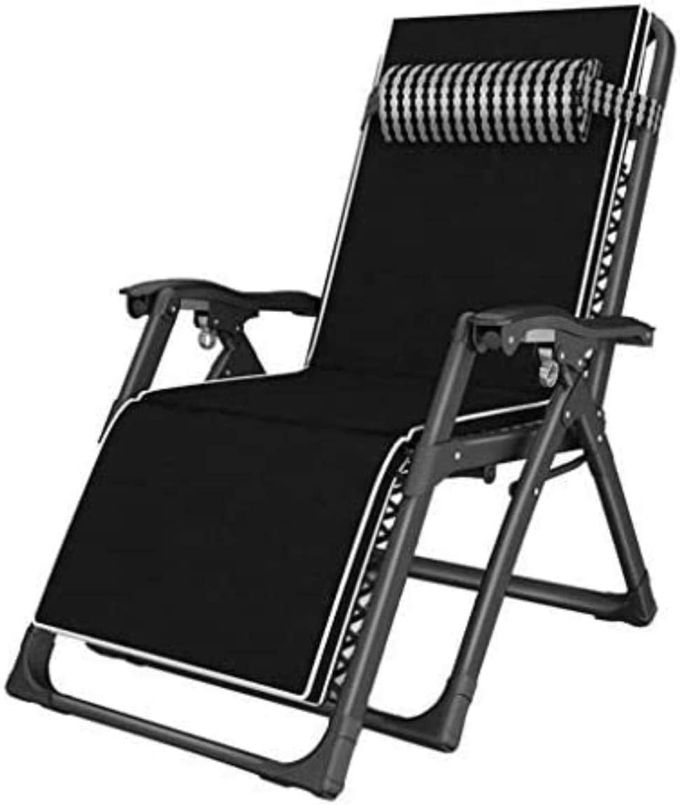 chair Comfortable Recliner Terrace Foldable Adjustable Recliner Outdoor Office Beach Wide Patio Lounger Support 440lbs with Cushions