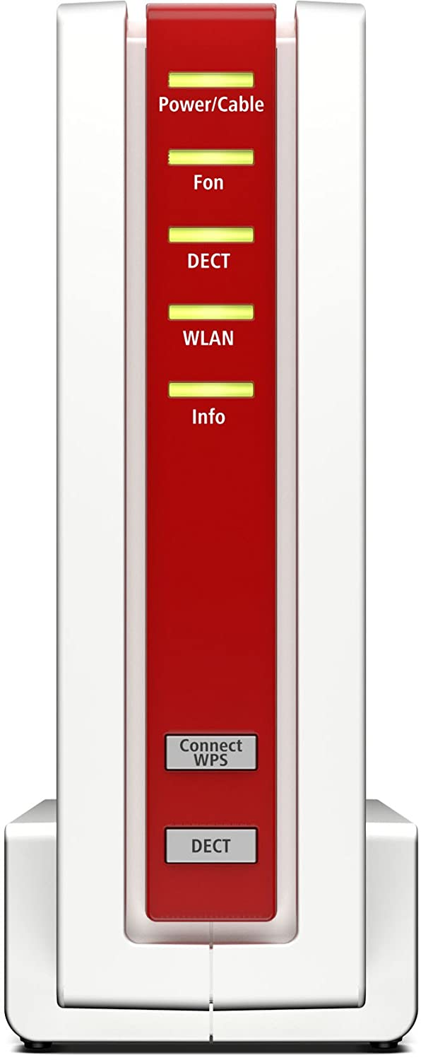 Box 6590 Cable WLAN AC y Router N (Cable Módem DOCSIS-3.0, Dual-WLAN AC+N con 1.733 Mbit/s (5 GHz), 800 Mbit/s Mbit/s (2,4 GHz), Sistema telefónico VoIP, ...