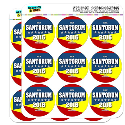 "Rick Santorum For President 2016 Election Campaign 2"" Scrapbooking Crafting Stickers"