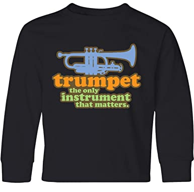 5a5614dd Amazon.com: inktastic - Trumpet Funny Music Gift Youth Long Sleeve T-Shirt  e3fd: Clothing