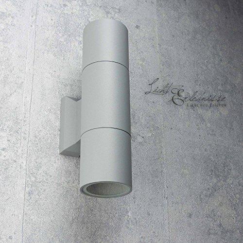 Colori antracite fine da parete Lampada da esterni up /& down faretto lampada da parete 65 mm diametro altezza 235 mm 2 x E27 per cortile /& giardino