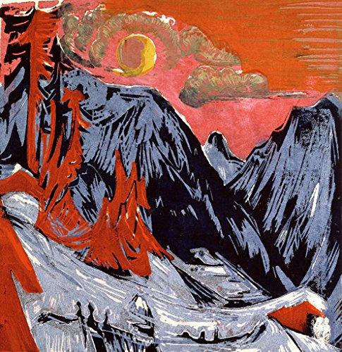 - kunst für alle Art Print/Poster: Ernst-Ludwig Kirchner Mountains in Winter 1919