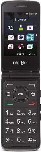 Tracfone Carrier-Locked Alcatel MyFlip 4G Prepaid Flip Phone- Black – 4GB – Sim Card Included – CDMA (TFALA405DCP)
