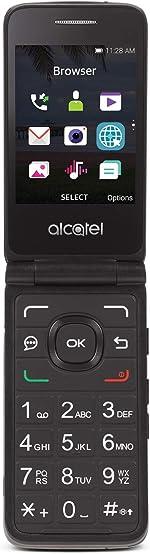 TracFone Carrier-Locked Alcatel MyFlip 4G Prepaid Flip Phone- Black - 4GB