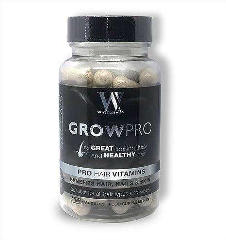 Mejores vitaminas para el cabello - GrowPro - Hair Growth Supplements con fórmula fortalecedora de uñas