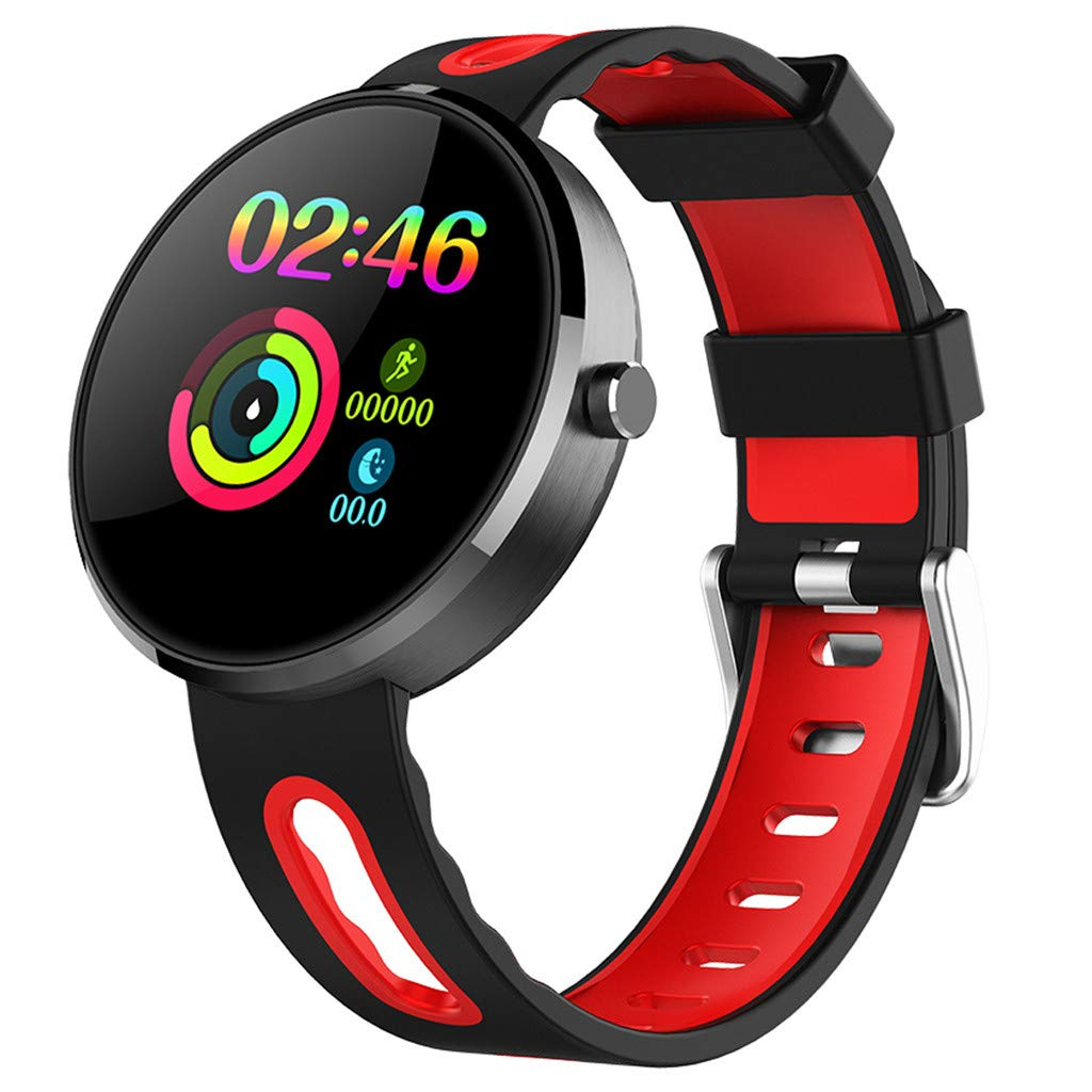 for Android iOS, Sport Smart Watch, Fitness Calorie Heart Rate Monitoring Physiological Cycle Reminder Smart Bracelet (B) by YNAA (Image #1)