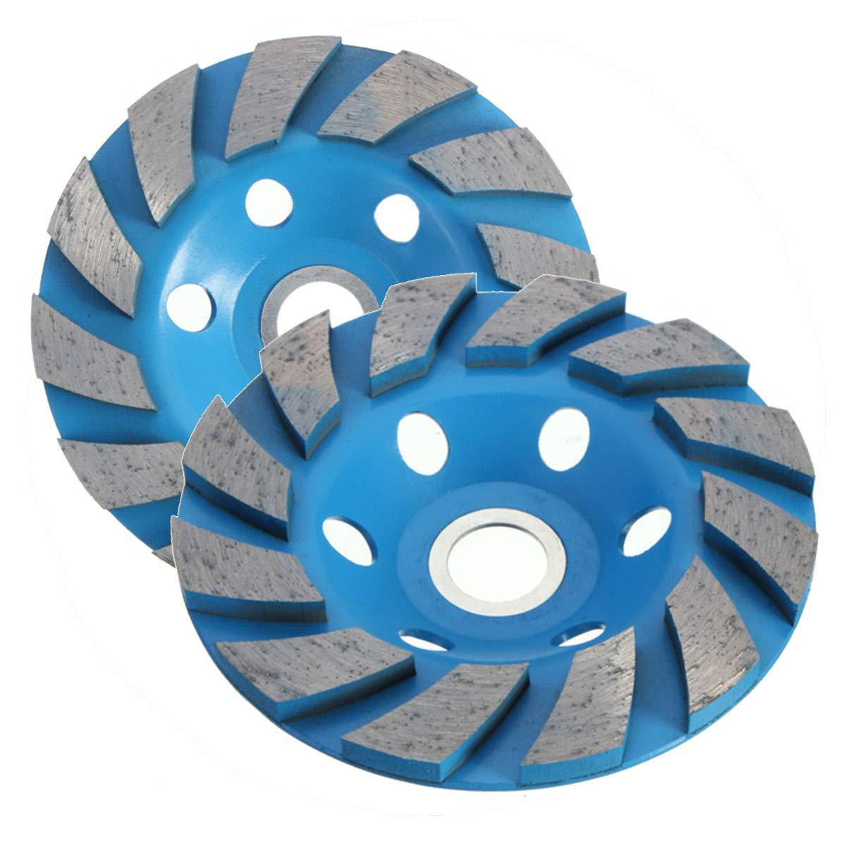 2PCS 4 Inch Diamond Cup Grinding Wheel V/ÉZAAR Angle Grinder Segment Grinding Disc Granite Marble Concrete