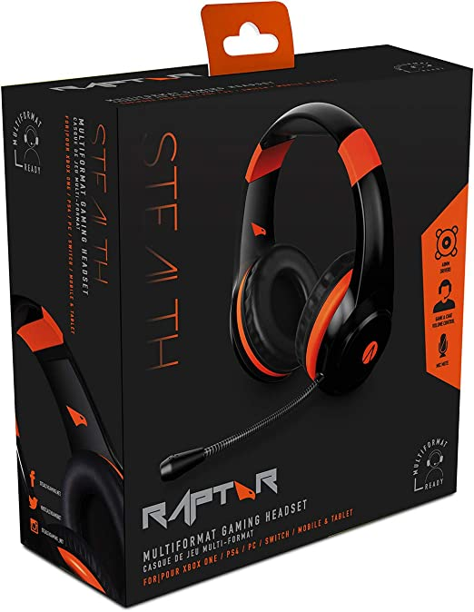 XP Raptor Multi Format Stereo Gaming Headset (PlayStation 4