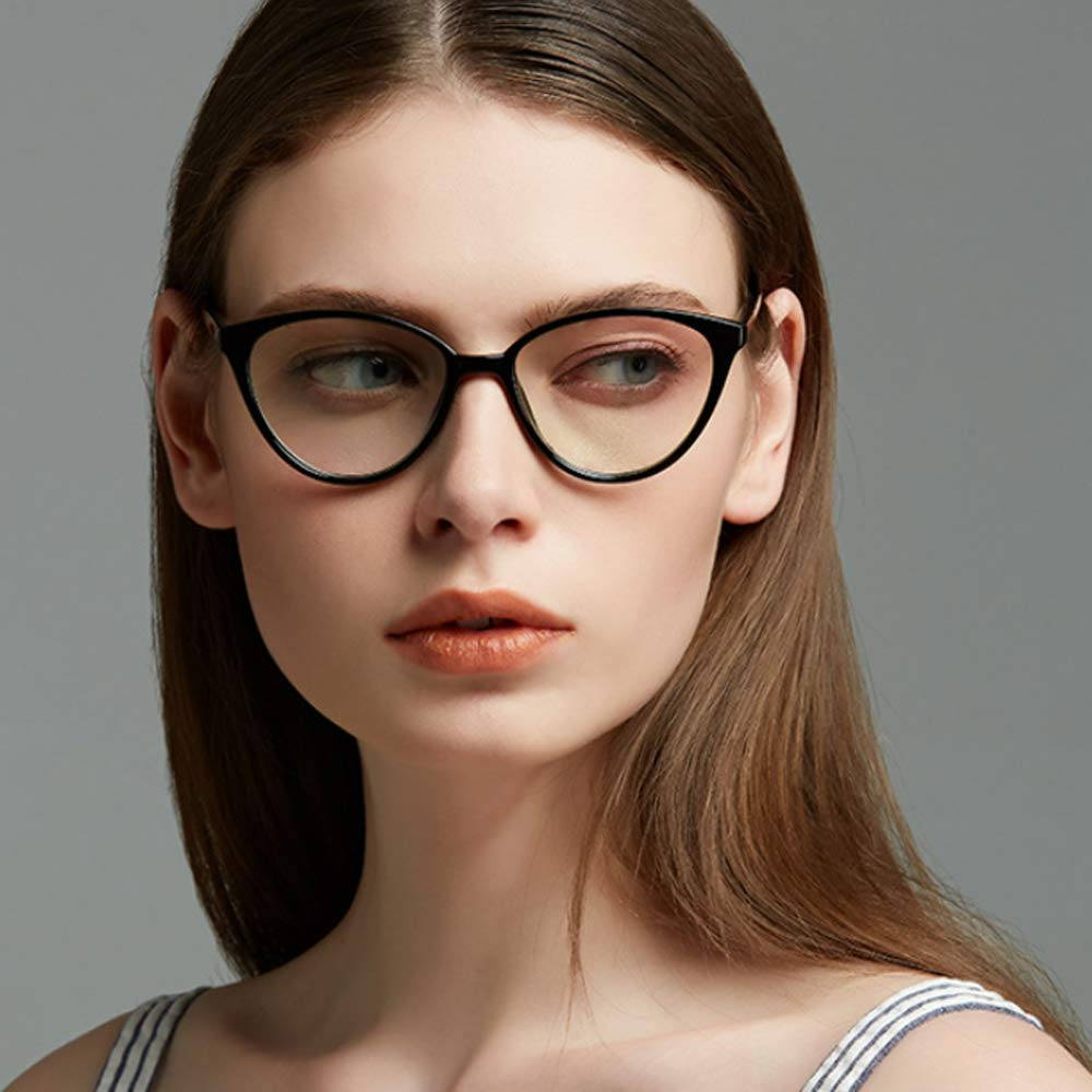 iCaptainAB Cat Eyeglass Frames for Women Vintage 80s Inspired Non Prescription Clear Lens Cateyes Glasses
