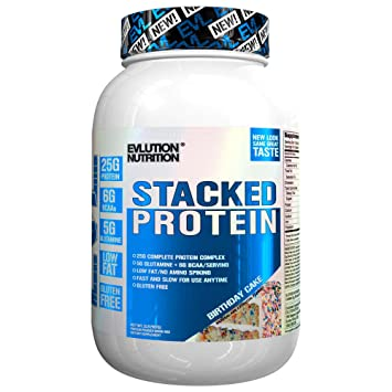 Evlution Nutrition Stacked Protein Powder With 25 Grams Of 5 BCAAs