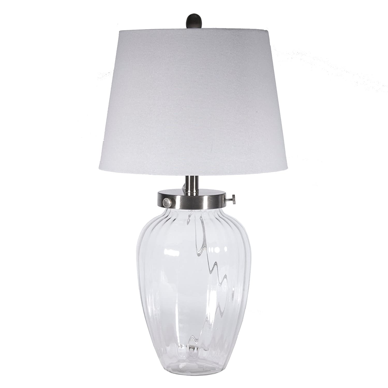 Fillable clear glass table lamp glass lamps to fill amazon aloadofball Image collections