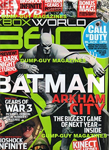 XBOX World 360 UK #99 Magazine &DVD BIG PREVIEW! THE DARK KNIGHT RETURNS IN BATMAN ARKHAM CITY High Definition Bioshock Infinite
