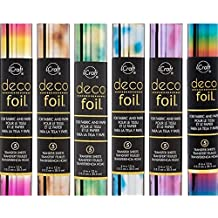 THERMOWEB Deco Foil - Transfer Sheets - RAINBOW & 5 WATERCOLORS - 6 piece bundle of all the current [2017] ombres
