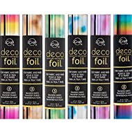 Therm O Web Deco Foil - Transfer Sheets - Rainbow & 5 Watercolors - 6 Piece Bundle of All The Current [2017] ombres