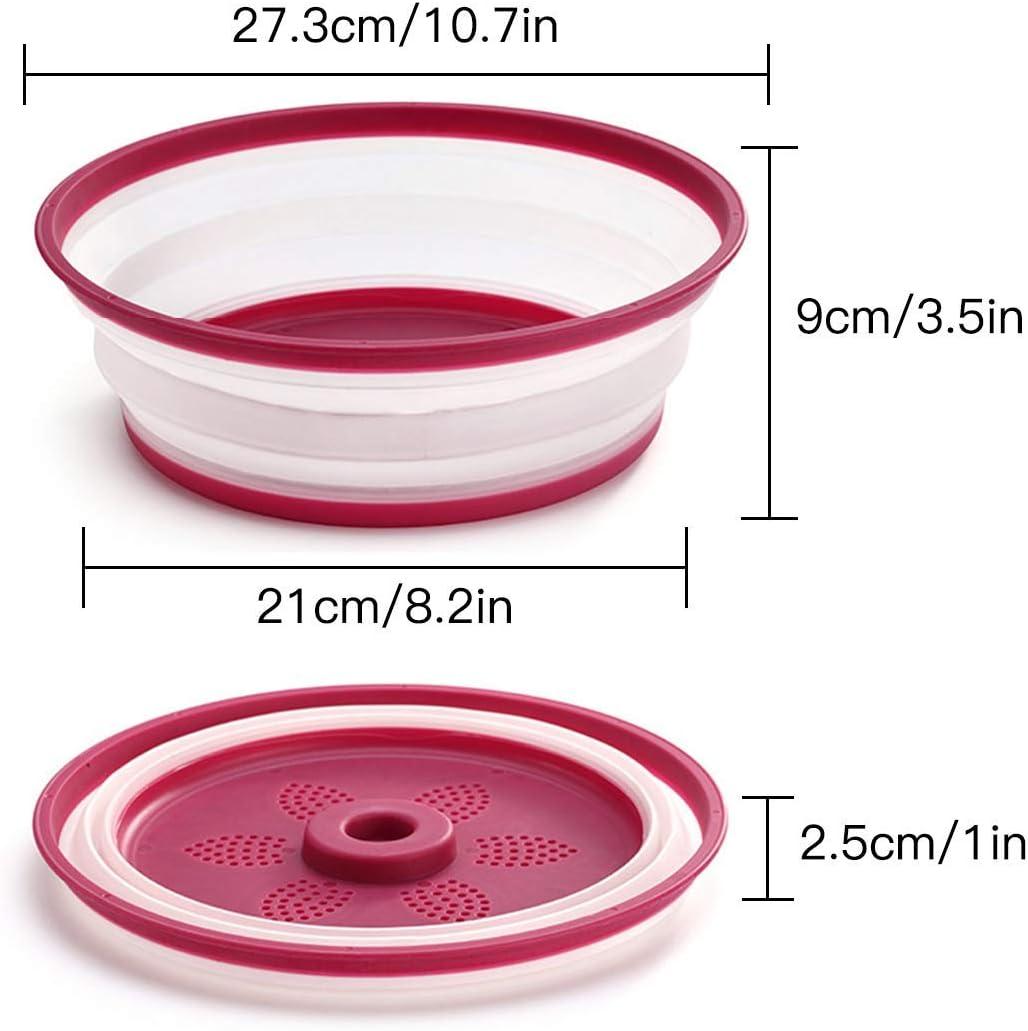 Tapa Plegable para microondas Juego de 2 Cubiertas de Silicona ...