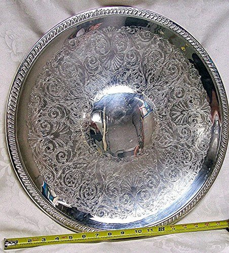 Sheridan Silver Plated (Sheridan Silver Plated Large Serving Tray 18