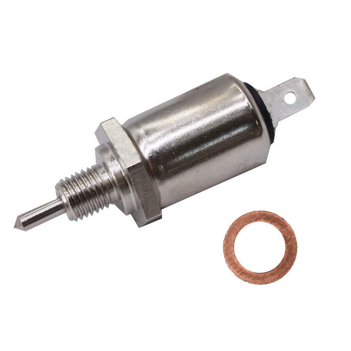 Carburetor Carb Fuel Shut Off Solenoid Fits John Deere M138477 LT180 LX277 X 475 X520 X 540 X700 X 710 Z840 GX345 GX325 & 15003-2801 Toro 74401 74405 74801 Lawn Tractor Kawasaki 21188-2011 HAOCHENG