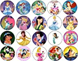 Set of 20 Disney Princess Collection Pins 1.25' Buttons