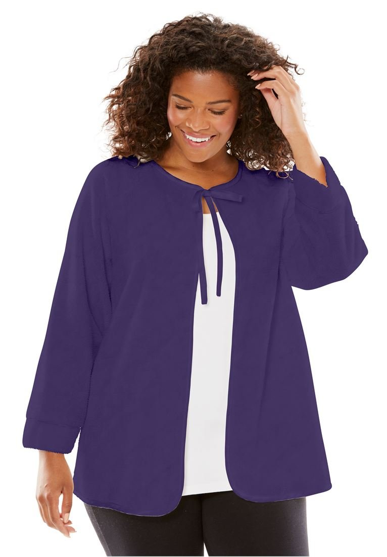 Only Necessities Women's Plus Size Chenille Bed Jacket