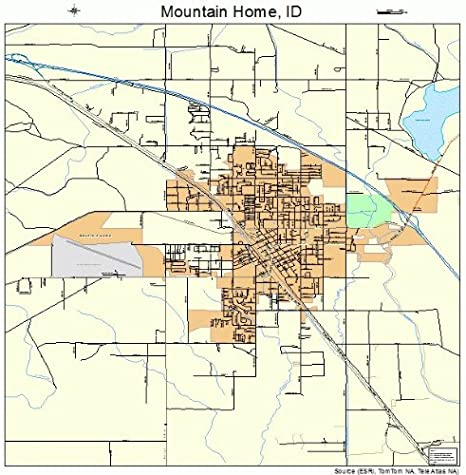 mountain home idaho map Amazon Com Large Street Road Map Of Mountain Home Idaho Id Printed Poster Size Wall Atlas Of Your Home Town Outdoor Recreation Topographic Maps Posters Prints mountain home idaho map
