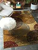 Unique Loom Barista Collection Modern Circular Contemporary Beige Area Rug (4′ x 6′) Review