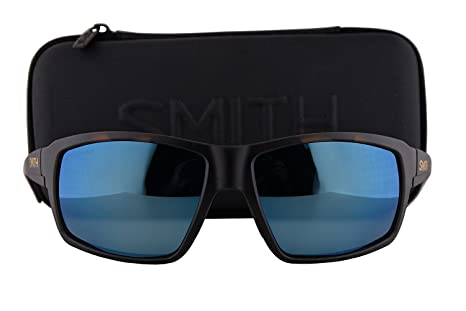 fd422fc67a3 Image Unavailable. Image not available for. Colour  Smith Colson Sunglasses  Matte Tortoise w Polarized ChromaPop Blue Mirror Lens SST